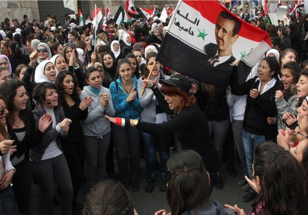 1 Syria pro government protesters