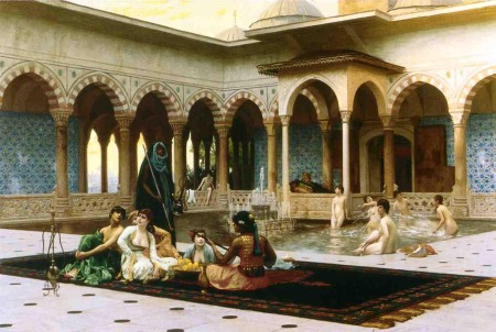 10 HAREM ON THE TERRACE painting b