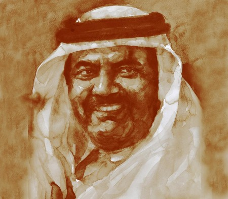 2 Emir Qatar painting