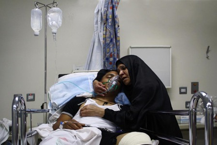 8 Bahrain mother injured protester