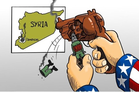 Syria cartoon revolver