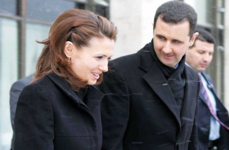 Asma and Bashar al-Assad b