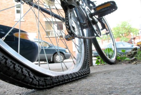 bycicle flat tire 1