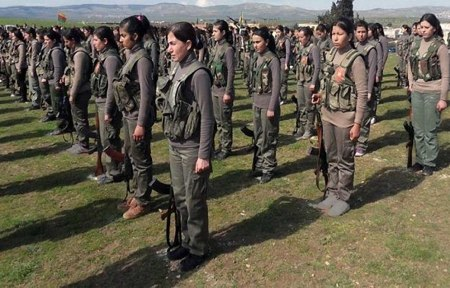 Female Kurd battalion b