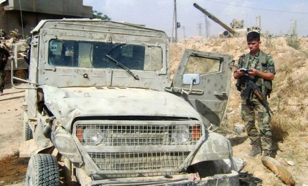 Captured FSA vehicle Qusair
