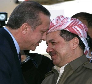 Massoud Barzani Recep Erdogan