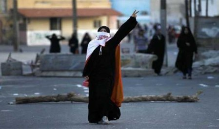 Bahraini women demonstrating2