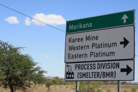 Marikana sign