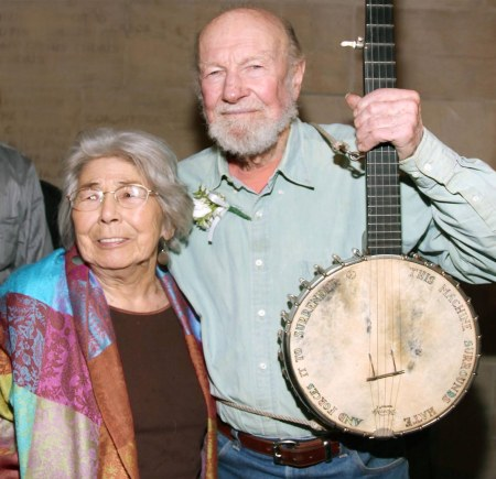 Toshi and Pete Seeger