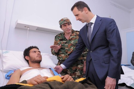 Assad wounded soldier