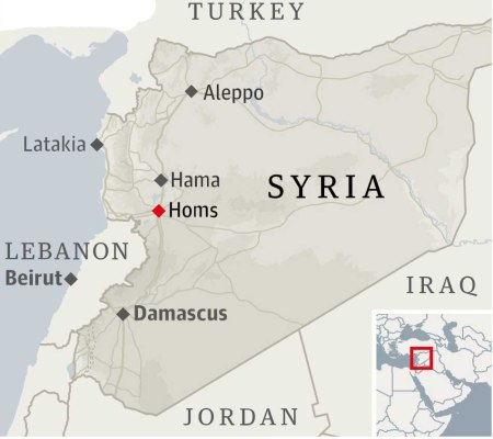 Syria Homs map