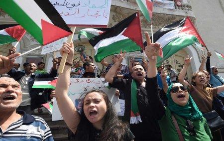 Gaza protest Tunisia
