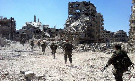 Syrian Soldiers, destruction