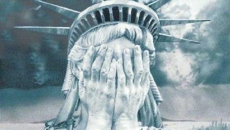 freedom statue grey