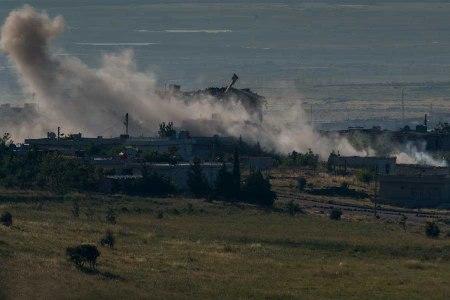 Golan artillery strike
