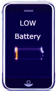 smartphone low battery