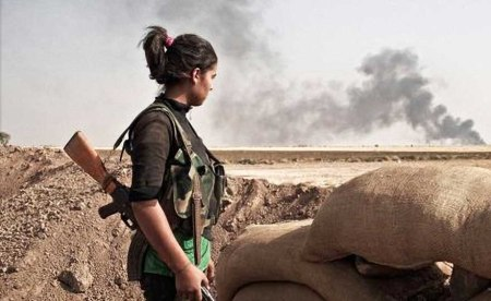 Kurdish female fighter 6