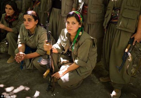 Kurdish female fighters b