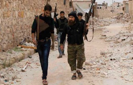 FSA fighters Aleppo 11 2014