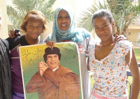 Libya Gaddafi supporters
