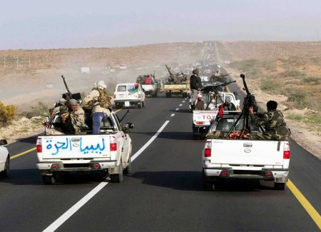 Libya rebels convoy