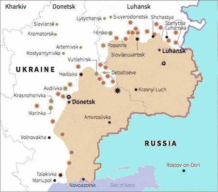 Ukraine Map  02 2015