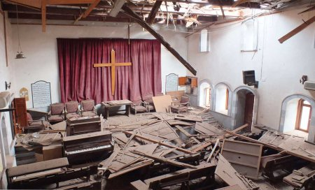 Syria church vandalized