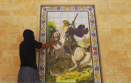 IS destroying Assyrian church 4