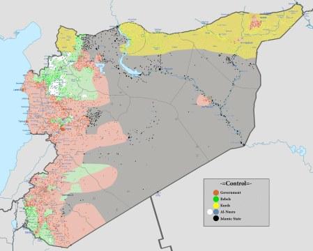 Syria map 01 2016