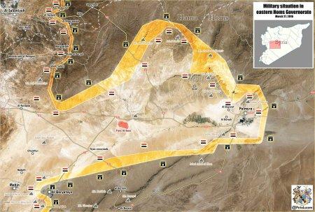 Palmyra Qaryatayn map
