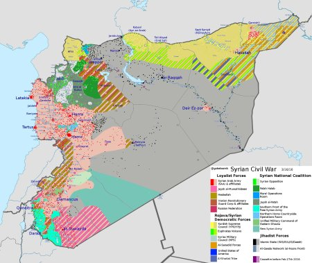 Syria map 16 03 2016