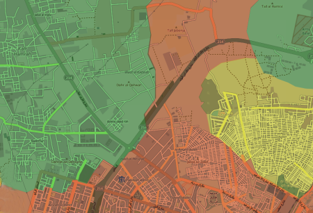 Aleppo siege map