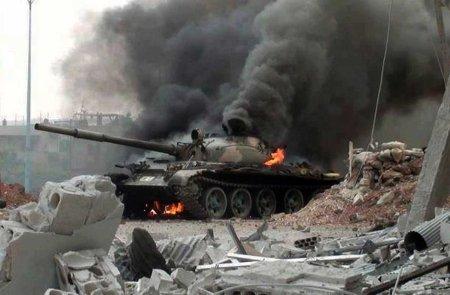 burning tank