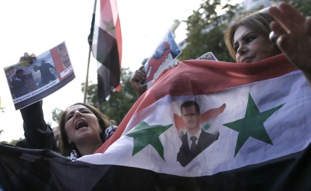 Assad demo women 4
